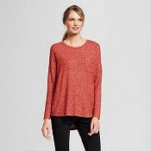 Burnt Orange Plush L/S Top Xl by A New Day!